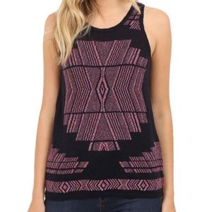 LUCKY BRAND Americana Stretch Knit Tank Top SMALL